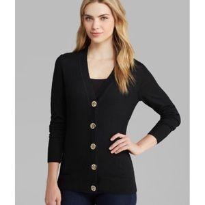 Tory Burch Sweaters - Tory Burch Simone Merino Wool Button Logo Cardigan
